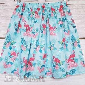 spódnice flamingi // promocja długość 45cm, promocja, zniżka, na lato, wyprzedaż