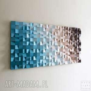 mozaika drewniana, obraz drewniany 3d pmk, loft, modern, kolor, mozaika, dyfuzja