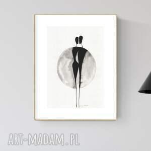 grafika 30x40 cm wykonana ręcznie, abstrakcja, obraz do salonu, 2880905