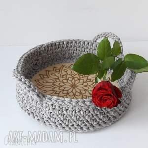 cudarenki taca rozeta 30 cm, taca, na herbatkę, mocne ucha, dekoracja stołu