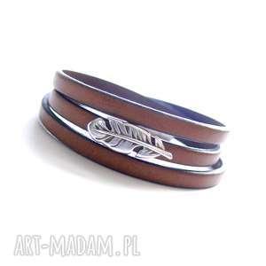 ręcznie wykonane bransoletki bransoletka skórzana tre