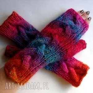 handmade rękawiczki tęczowe - zamówienie pani marzenny