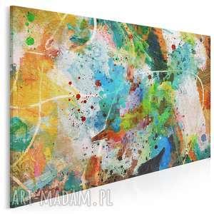 obraz na płótnie - abstrakcja kolory 120x80 cm (58101)