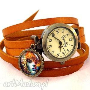 ekspresjonistyczna dusza - zegarek bransoletka na skórzanym