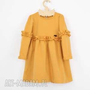 Sukienka z marszczeniami, falbanki