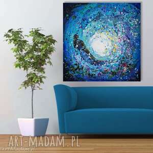 Akryl na płótnie GŁĘBIA 100x100cm obraz artystki plastyka Adriany Laube,