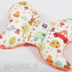pokoik dziecka poduszka podróżna motylek - camping p, poduszka, antywstrząsowa