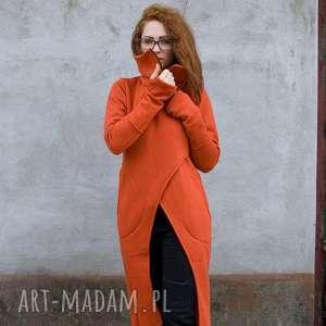 Płaszcz Asmi ze stójką długi, bluza, płaszcz, ciepła, na-zamek, długi-długa,