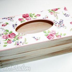 Romantyczny chustecznik pudełka jm deco chusteczki, chustecznik