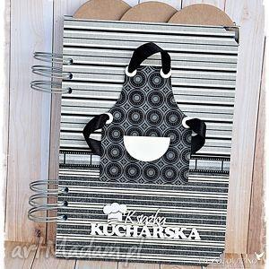 ręcznie wykonane scrapbooking notesy męskie gotowanie - przepiśnik z przekładkami