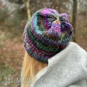 handmade czapki kolorowa czapka