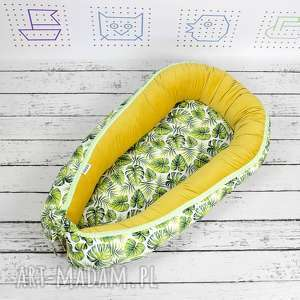 dla dziecka kokon gniazdo niemowlaka tropikalne liście, kokon, babynest