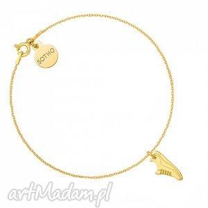 złota bransoletka z butem sportowym dla biegaczki sotho - bieganie