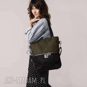 ręcznie wykonane torebki czarna khaki torba z wodoodpornego nubuku
