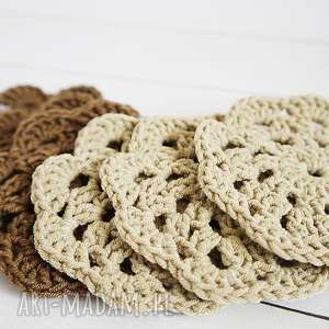 podkładki serwetki bawełniane 091 vairatka handmade - beżowe