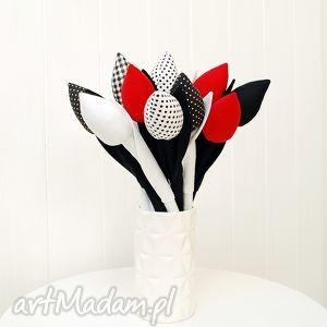 Bukiet tulipanów, tulipany, bukiet, kwiaty, szyte, wiosna, kwiatki