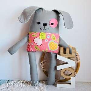piesek łatek - antosia - 39 cm (pies dziewczynka, jabłka, bezpieczna roczek)
