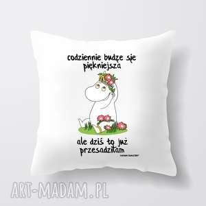 licencjonowana poduszka muminki codziennie budzę się piękniejsza - muminek