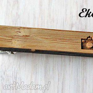 handmade krawaty drewniana spinka do krawata aparat