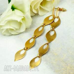 kolczyki łezki w złotym kolorze rea4 c709-4, łezki