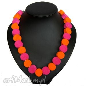 korale z filcu - filc, korale, biżuteria, modne, prezent, naszyjnik