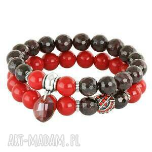 hand made bransoletki sada 2 - bardoux & red