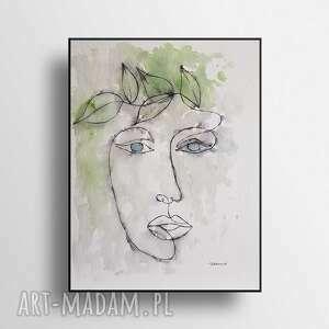 twarz-minimalizm-akwarela formatu 24/32
