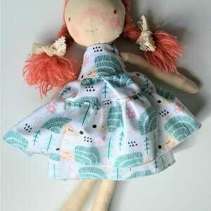 anolina szyta laleczka szmacianka gotowa do wysyłki - prezent dla pięciolatki
