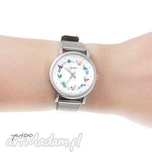 zegarek, bransoletka - kolorowy wianek mały, bransoletka, metalowa
