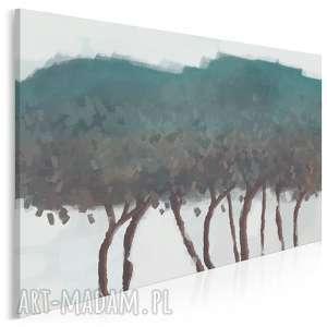obraz na płótnie - drzewa obłoki natura sztuka 120x80 cm 90701, drzewa