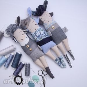trzy siostry szi - zabawki hand made, przytulanka, błękitny, serenity, prezent