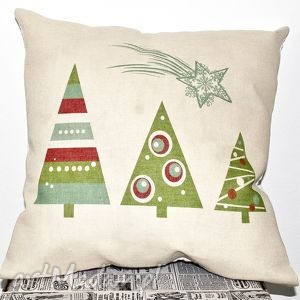 pomysł na świąteczny prezent Poduszka świąteczna, choinki, poduszka, bożenarodzenie