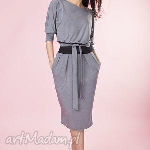 Kimonowa szara sukienka Provance , sukienka, wiskoza, dzienina, kobieca, kimonowa,