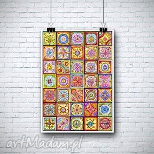 malgorzata domanska mozaika a3, mozaika, marokańska, plakat