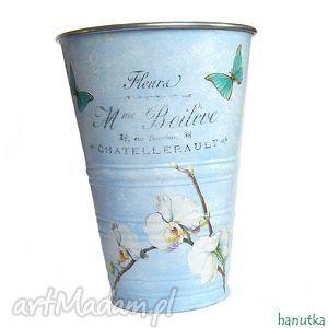 ręcznie wykonane wazony biała orchidea - osłonka na doniczkę