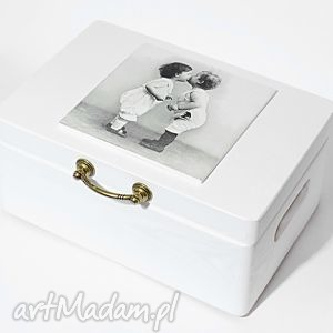 ślubne pudełko na koperty kopertówka love vintage, koperty, vintage