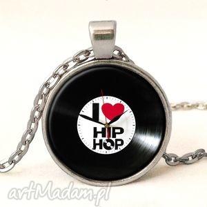 i love hip-hop - medalion z łańcuszkiem - hiphop, muzyka, taniec, medalion
