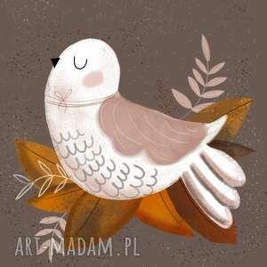 Plakat a3 ptak plakaty muki design retro, boho, dziecięcy