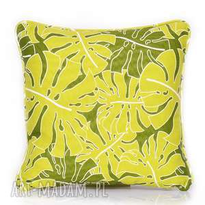 Poduszka Monstera Leaves - LEMON GREEN 40x40cm, monstera, poduszka-monstera