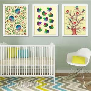 Zestaw 3 ilustracji a3 pokoik dziecka malgorzata domanska plakat