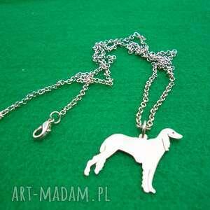 naszyjnik chart perski saluki pies nr 65, naszyjnik, pies, rasy-psów, rękodzieło
