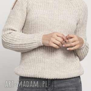 swetry raglanowy sweter, swe126 beż, ciepły, wyjściowy, rękawy