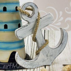 shiraja kotwica szchabby chic 2, kotwica, drewniana, schabby, oryginalny