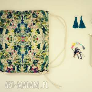 pomysł na upominki KALEJDOSKOP plecak / worek torba płócienna, eco-torba