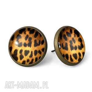 Gepard - Kolczyki sztyfty - ,kolczyki,wkrętki,wkręty,gepard,cętki,prezent,