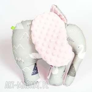 Mięciutki słonik - minky bawełna łabędzie, pluszak, zabawka, przytulanka, maskotka