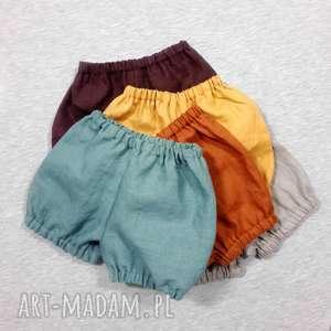 Lniane szorty, krótkie spodenki mamafaktura ubranka, spodenki