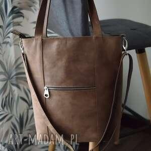 juti bags duża torba crazy horse, torebka na skos, skórzana do pracy