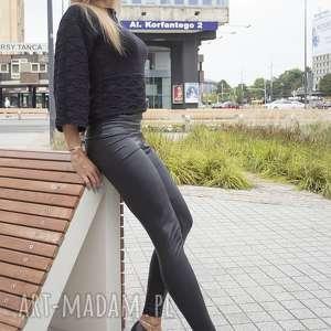 czarny ażurowy sweterek szyszka - bawełna