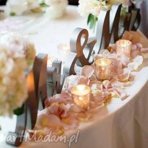 Dekor Dekoracja ślubna Mr e, dekoracje, napis, mrandmrs, inicjały, litery, ślub